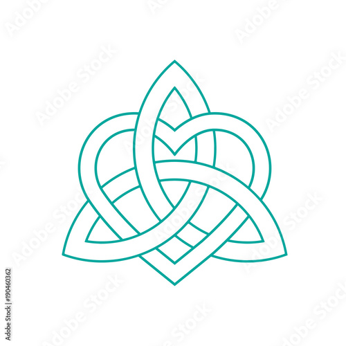 Vector Icon Celtic Knot Triquetra Cross Or Trinity Symbol With