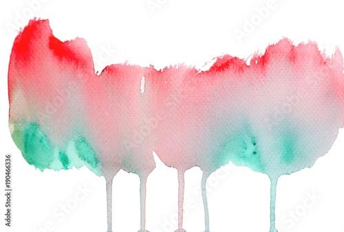 Photo sur Plexiglas watercolor art brush texture background