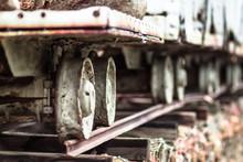 Old Metal Gold Mining Cart