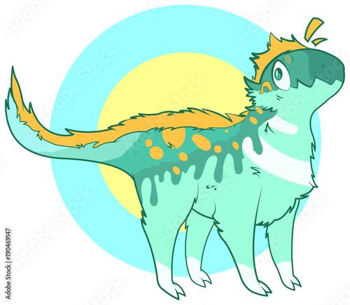 In de dag Sprookjeswereld Cute dinosaur