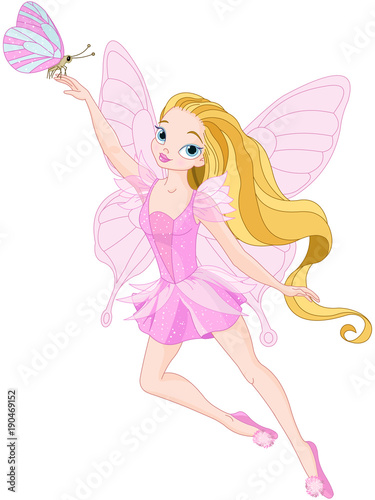 Foto op Canvas Sprookjeswereld Cute Fairy