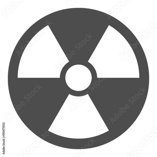 Ionizing Radiation Sign Nuclear Pollution Symbol Vector Icon