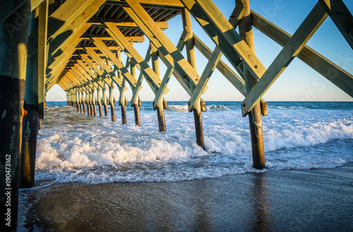 Waves Crashing Under the Pier