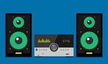 Home Stereo Flat Vector Music ...