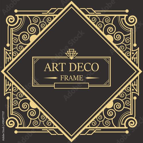 Fototapety, obrazy: Art Deco Border frame vector03