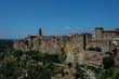 Blick auf Pitigliano in der Toskana