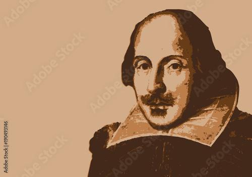 Canvastavla Shakespeare - écrivain - portrait - personnage célèbre - théâtre - littérature -