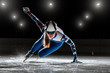 Leinwanddruck Bild - short track. athlete on ice