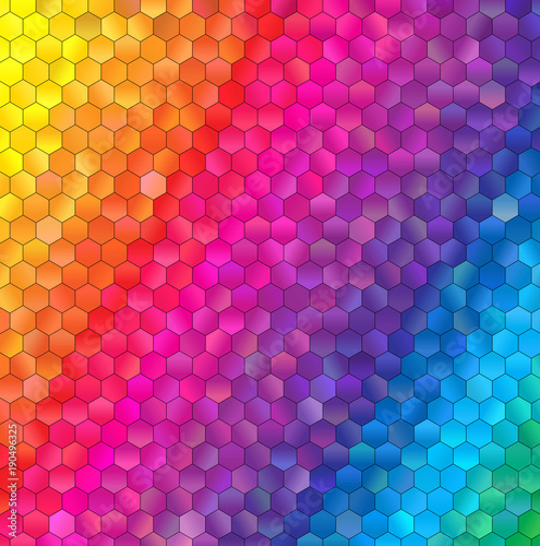 Foto op Plexiglas Abstract wave hexagon abstract background