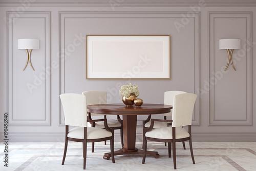 Pinturas sobre lienzo  Dining-room interior.3d render.