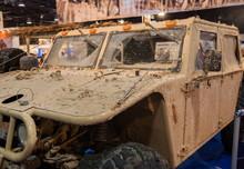 Dirty Military Hummer Presented On Tel-Aviv Motor Show