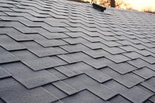 Close Up View On Asphalt Roofi...