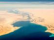 canvas print picture - Suez Canal