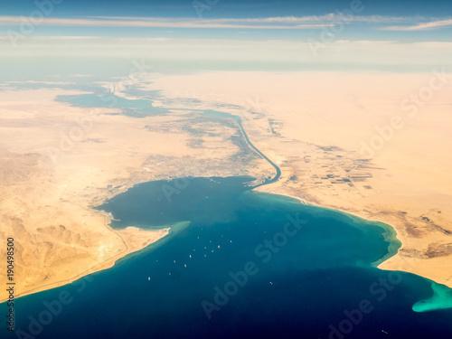 Canvas-taulu Suez Canal