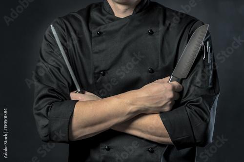 Fotografie, Obraz  Chef Koch in der Küche