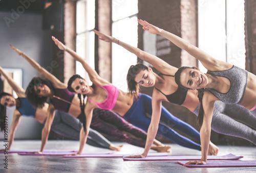 Photo  Group yoga training