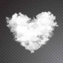 Realistic Vector Cloud Heart. ...
