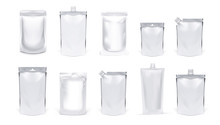Various Clear Plastic Or Foil Food Pouch Bags Packs