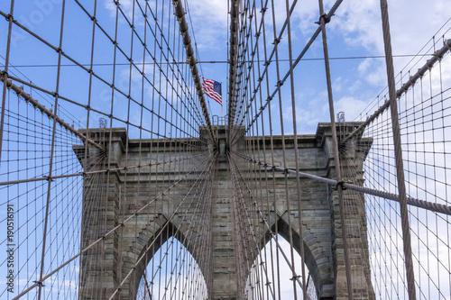 brooklyn bridge with world trade center in New York