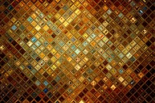 Golden Glass Abstract Mosaic, ...