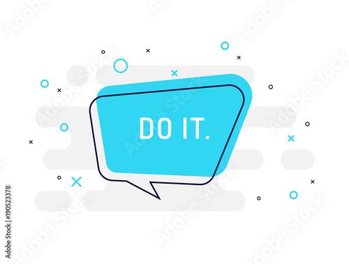 zrob-to-teraz-motywacja-pozytywny-transparent-dymek-plakat-i-naklejki-koncepcji
