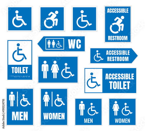 . accesible restroom signs  toilet sign for desabled people   Buy this