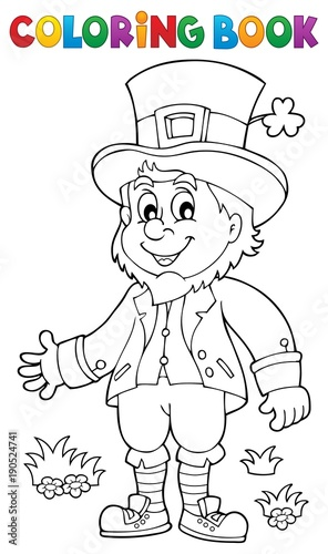 Recess Fitting For Kids Coloring book leprechaun 2