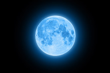 Blue Super Moon Glowing With B...