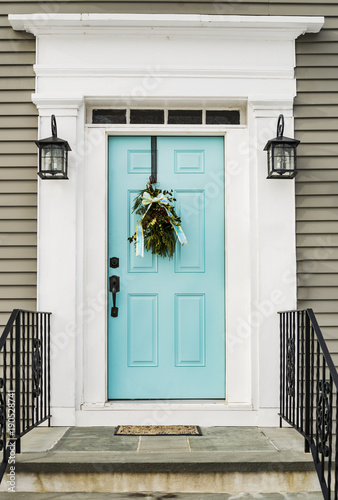 Door of a typical New England residential house Wallpaper Mural