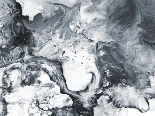 Czarno-biały marmur abstrakcyjne ręcznie malowane tła