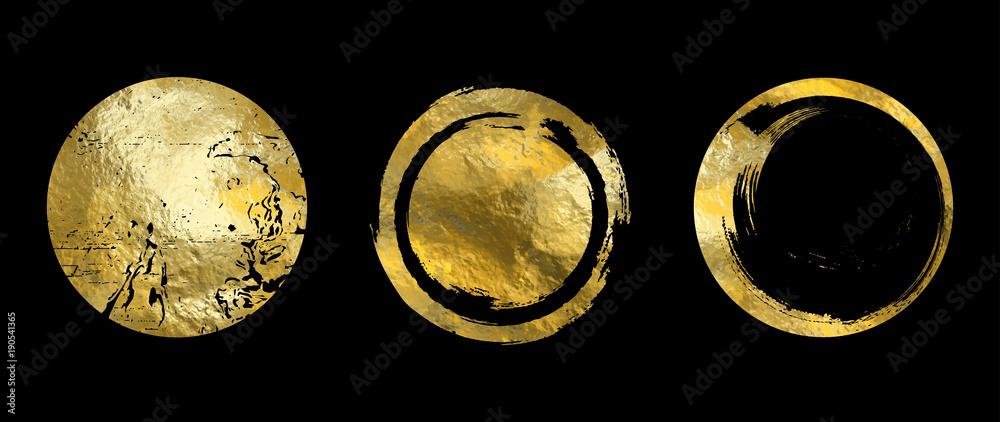 Fototapeta Vector gold frame