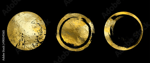 Vector gold frame Canvas Print