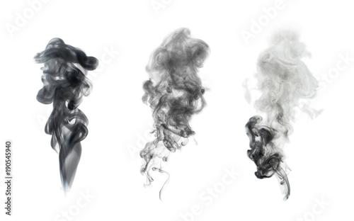 Garden Poster Smoke white smoke isolated on black