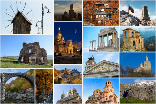 Spoed Foto op Canvas Oceanië Collage of travel photos from Bulgaria