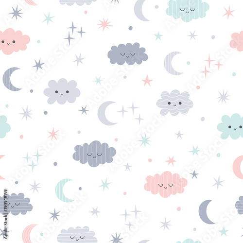 Cute seamless pattern for kids Wallpaper Mural