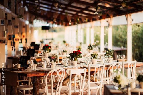 Fotobehang Restaurant Wedding decor