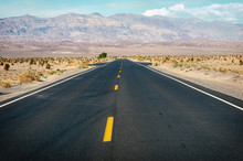 Empty Road In Death Valley Nat...