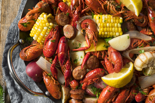 Photo  Homemade Southern Crawfish Boil