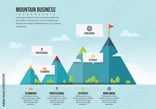mountain illustration infographic 1  buy this stock