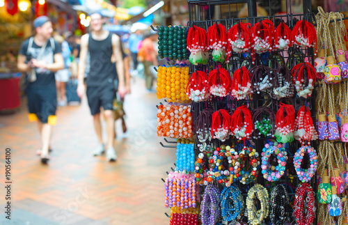 Gifts at Chinatown market , Singapore Canvas Print