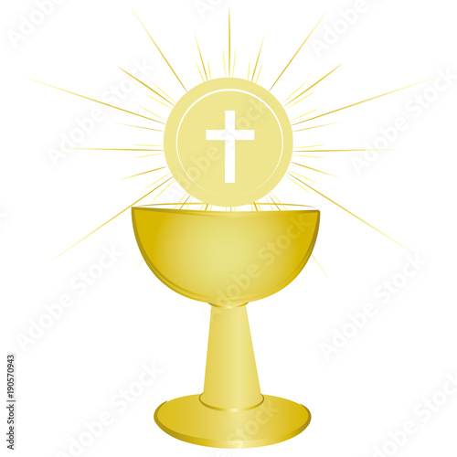 Gold Chalice Holy Communion Symbol Buy This Stock Vector And