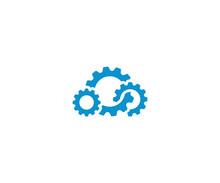 Cloud Gear Logo Template. Clou...
