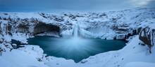 Frozen Landscape In Iceland Na...