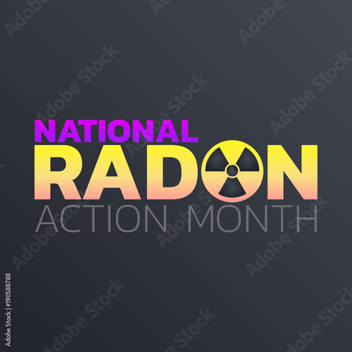 Vászonkép National Radon Action Month icon design. logo vector illustration
