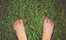 Pretty Bare Feet Of A Woman St...