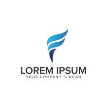 Letter F Torch Logo Design Con...
