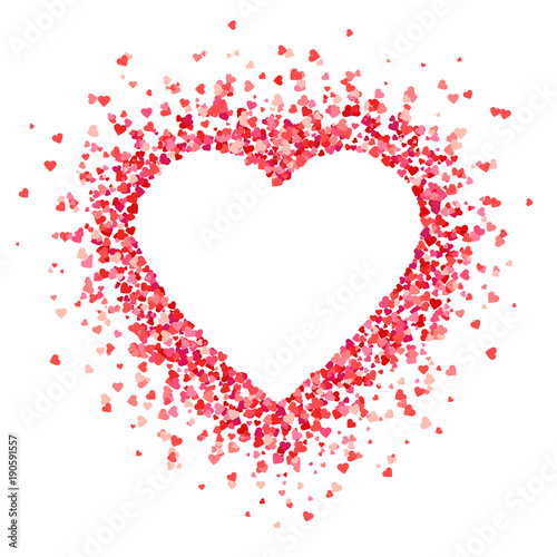 Fotografie, Obraz  Heart shape background with red hearts
