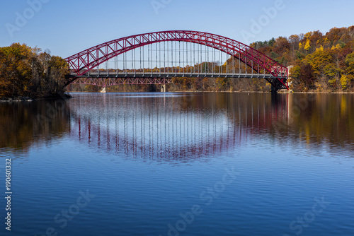 Fotografie, Obraz  Taconic Parkway Steel Arch Bridge - New Croton Reservoir - New York