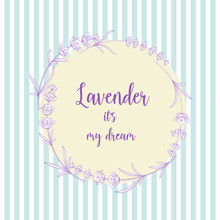 The Lavender Elegant Card With...