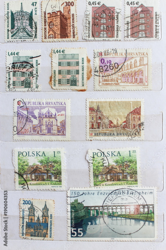 picture regarding Printable Postage Stamps identified as Photograph Artwork Print Previous postage stamps towards diverse nations around the world